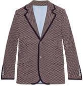 Gucci Tie pattern jersey jacket