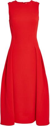 Victoria Beckham Pleated Flare Midi Dress