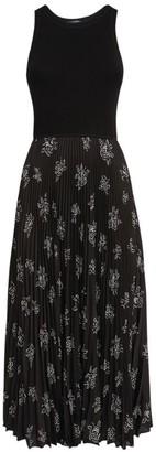 Ralph Lauren Rose Print Sleeveless Midi Dress