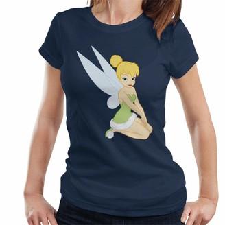 Disney Peter Pan Classic 1950s Tinker Bell Women's T-Shirt Navy Blue