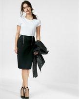 Express double zip front pencil skirt