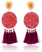 Mercedes Salazar Fiesta Piña Morada Gold-Tone Earrings