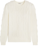 Miu Miu Cable-knit Wool Sweater - Ivory