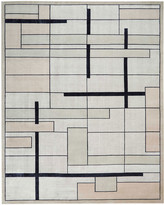 Christopher Guy Avenue Silvery Moon Hand-Knotted Rug, 9' x 12'
