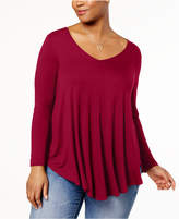 Soprano Trendy Plus Size Swing Top