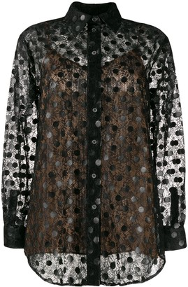 Marco De Vincenzo Polka Dot Lace Shirt