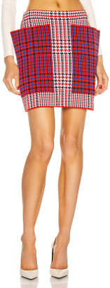 Burberry Talea Houndstooth Mini Skirt in Bright Red | FWRD