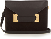 Sophie Hulme Milner Double suede and leather clutch