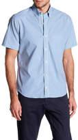 Tailorbyrd Regular Fit Short Sleeve Plaid Shirt