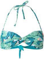 Mara Hoffman leaf print bandeau bikini top