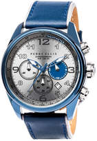Perry Ellis GT Chrono Navy Leather Watch