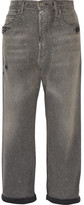 Golden Goose Deluxe Brand Distressed Glittered High-rise Boyfriend Jeans - Gray