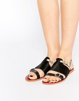 Ravel Strappy Leather Flat Sandals