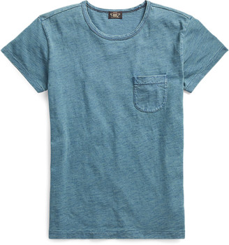 Ralph Lauren Indigo Cotton Pocket T-Shirt