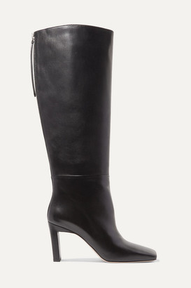 Wandler Isa Leather Knee Boots - Black