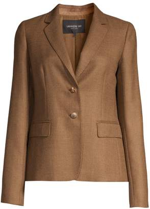 Lafayette 148 New York Thatcher Textured Wool & Silk Blazer