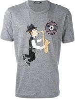 Dolce & Gabbana saxophonist patch T-shirt - men - Cotton - 50