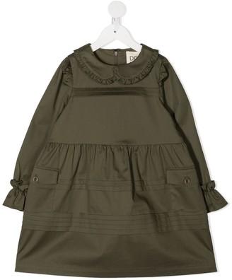 Douuod Kids Ruffle Trim Dress