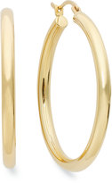 Signature GoldTM Polished Hoop Earrings in 14k Gold over Resin