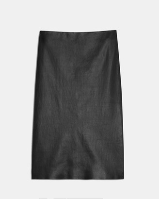 Theory Pencil Skirt in Leather