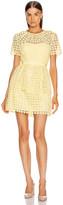 Self-Portrait Self Portrait Heart Lace Mini Dress in Yellow | FWRD