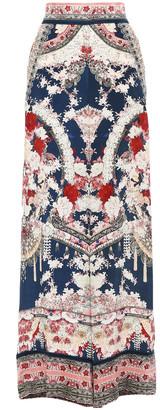 Camilla Twin Shadow Crystal-embellished Silk Crepe De Chine Wide-leg Pants