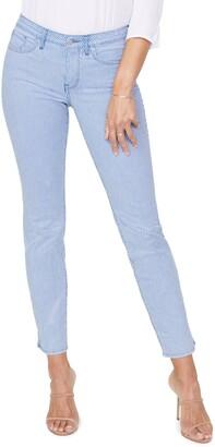Curves 360 by NYDJ Stripe Slim Straight Ankle Jeans