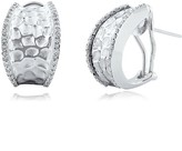 Effy Jewelry Effy 925 Sterling Silver Diamond Earrings, .39 TCW