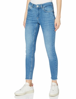 Pieces Women's Pcdelly Skn Mw Cr Raw Lb124-ba/noos Bc Jeans