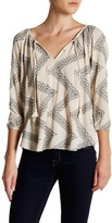 Love Stitch Embroidered Zigzag Blouse