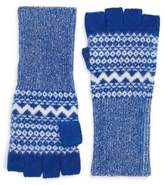 Burberry Cashmere Fair Isle Fingerless Gloves