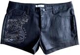IRO Black Leather Shorts