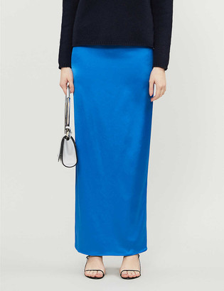 Georgia Alice High-waist satin maxi skirt