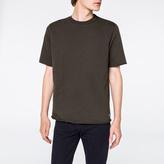 Paul Smith Men's Charcoal Grey Raw-Edge Short-Sleeve Sweatshirt