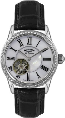 Rotary Womens Analogue Automatic Watch with Leather Strap LS90511/38