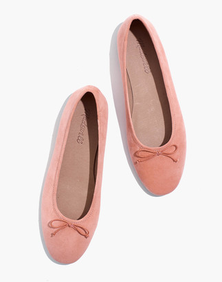 Madewell The Adelle Ballet Flat in Suede