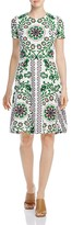 Tory Burch Cape Floral Print Dress