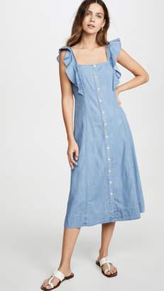 Madewell Denim Button Front Midi Dress