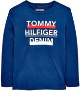 Tommy Hilfiger Long Sleeve Flag T-shirt