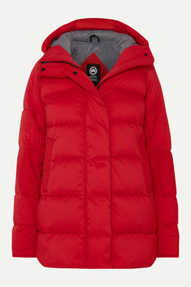Canada Goose Alliston Hooded Quilted Shell Down Jacket - Red