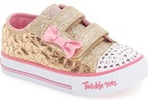 Skechers 'Twinkle Toes - Shuffles' Light-Up Sneakers (Walker & Toddler)