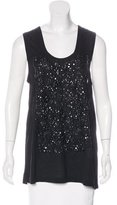 Vera Wang Sleeveless Embellished Top w/ Tags