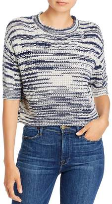 See by Chloe Marled Knit Cropped Pullover Sweater