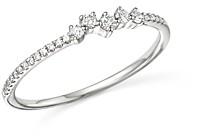 Bloomingdale's Kc Designs 14K White Gold Mosaic Diamond Stacking Ring