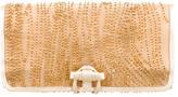 Sergio Rossi Satin-Trimmed Embellished Clutch
