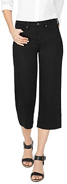 NYDJ Wide-Leg Capri Jeans in Black