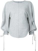 Bassike curved hem longsleeve top - women - Elastodiene/Polyamide/Wool - 6