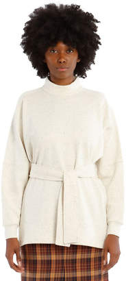 Melange Home Arno Long-Sleeve High-Neck Top - Cream
