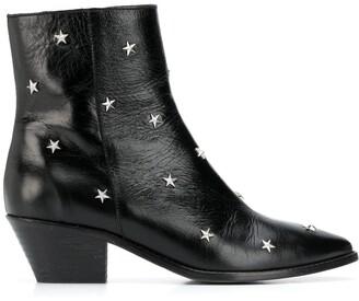 Zadig & Voltaire Tyler star studs boots