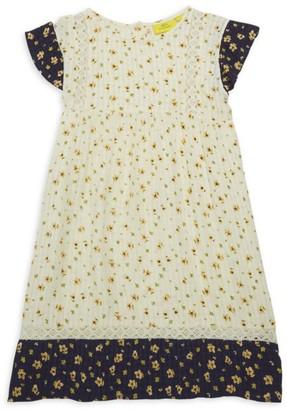 Roller Rabbit Little Girl's & Girl's Anastasia Floral Peasant Dress